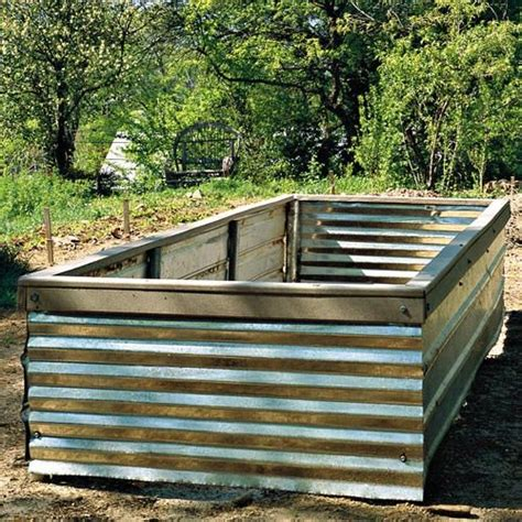 corrugated metal raised garden beds corrugated iron raised garden beds corrugated iron