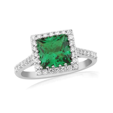 waterford emerald halo silver ring wr194 from browns