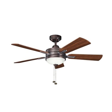 Kichler Ceiling Fan Light Kit Kichler Ceiling Fan With Light Kit In Brushed Bronze Finish 300148obb Destination Lighting