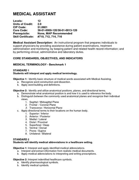 Receptionist Objective Statement Resume Sample Receptionist Medical Assistant Medical