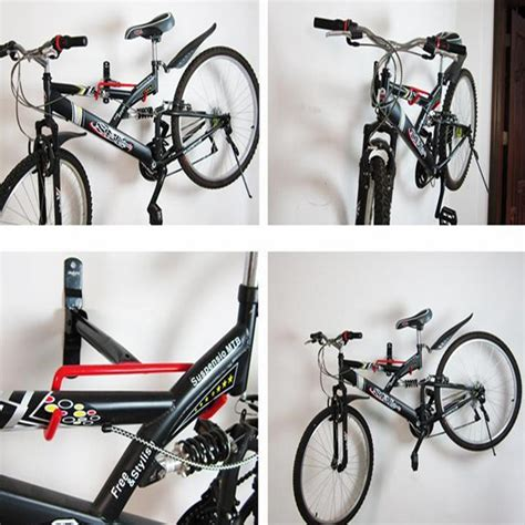 bike rack garage wall cycling bicycle storage garage wall mount rack bike steel holder display hanger ebay