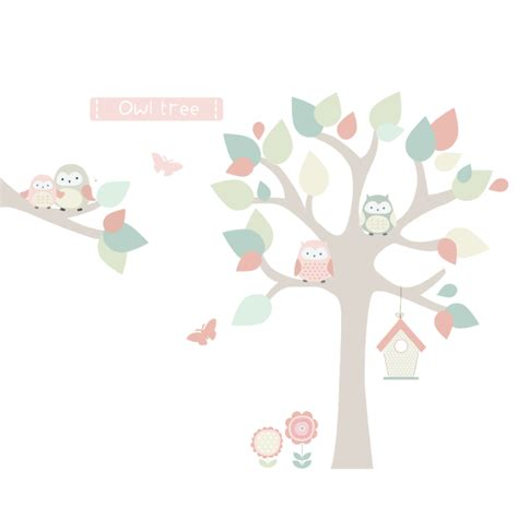 owl tree wall stickers owl tree fabric wall sticker littleprints
