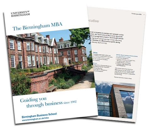 Birmingham City Mba Ranking by New Birmingham Mba Brochure Launches