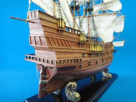 boat building in spanish spanish galleon 23 quot wooden ship model 1 80 sail boat