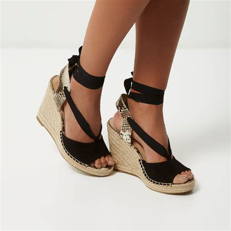 Wedges Js42 By Jenn Shoes black wedges with laces www imgkid the image kid
