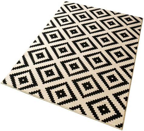schwarz weiß teppich teppich hanse home 187 raute 171 gewebt kaufen otto