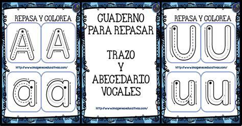 imagenes educativas vocales cuadernillo para repasar el trazo y las vocales imagenes
