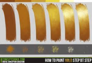 how to make the color gold how to paint gold tutorial by conceptcookie on deviantart