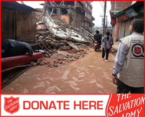 salvation army international nepal earthquake appeal