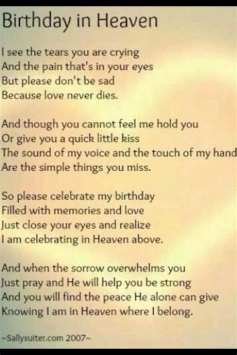 Birthday In Heaven Quotes Celebrating Birthday In Heaven Quotes Quotesgram