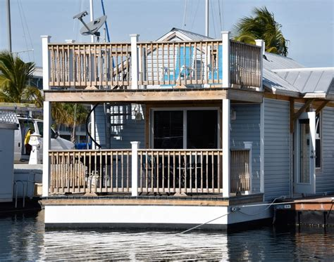 boat house for rent the blue marlin at the stock island marina village 1 br vacation house boat for rent in key