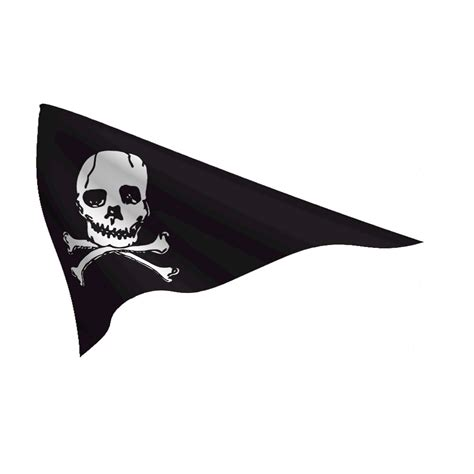 Duck Wall Stickers nylon 10in x 15in jolly roger pennant flags international