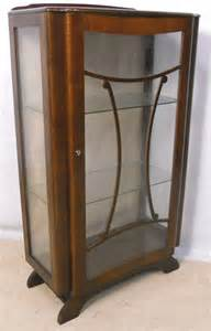 Small China Cabinet Display Small Deco Style Walnut China Display Cabinet Sold