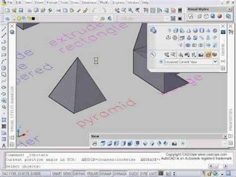 tutorial autocad 2007 3d cadclip autocad 2007 3d rotate youtube