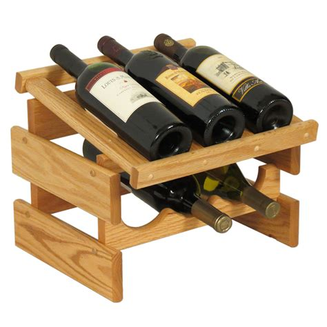 wine holder wood wine rack 6 bottle in wine racks