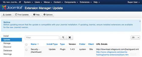 tutorial joomla plugin how to update joomla extensions