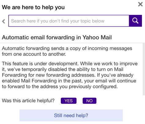 email yahoo service yahoo disables automatic email forwarding to make it