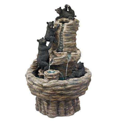 cute rustic mountain woods black bear upside down hook new best zen indoor waterfalls for your home