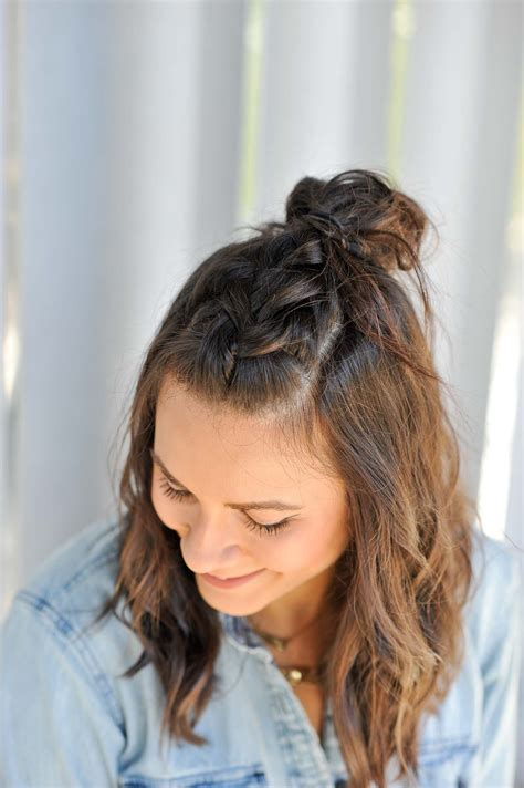 how do you do half up half down hairstyles braided half up half down hairstyle tutorial my style vita