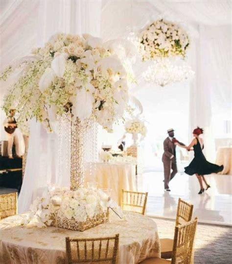 all white wedding centerpiece party decoration