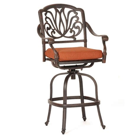 outdoor aluminum bar stools florence cast aluminum outdoor swivel bar stool ca 777 7 cozydays