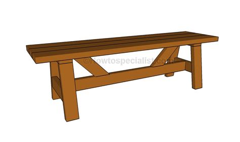 cedar bench plans wooden bench plans howtospecialist how to build step