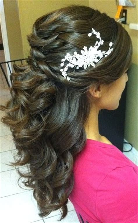 Wedding Hair Half Up Curls by Half Up Half Curls My New Hair