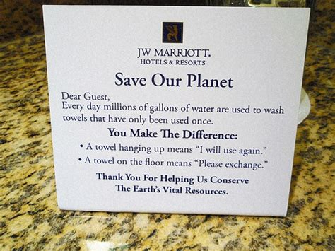 read about how hotels get you to reuse towels everyone