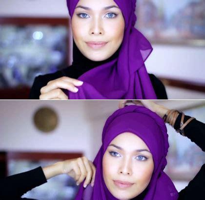 tutorial hijab orang timur tengah tutorial hijab dengan aksen twist ala wanita timur tengah