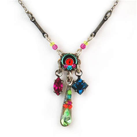 multi color mini delicate mosaic with dangle