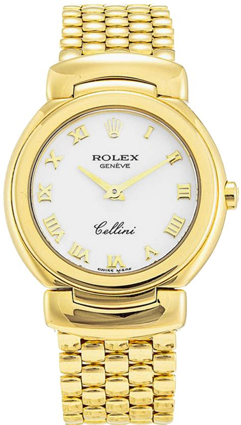 6621 8 rolex cellini quartz 18k yellow gold watches