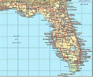 florida map with cities and beaches images