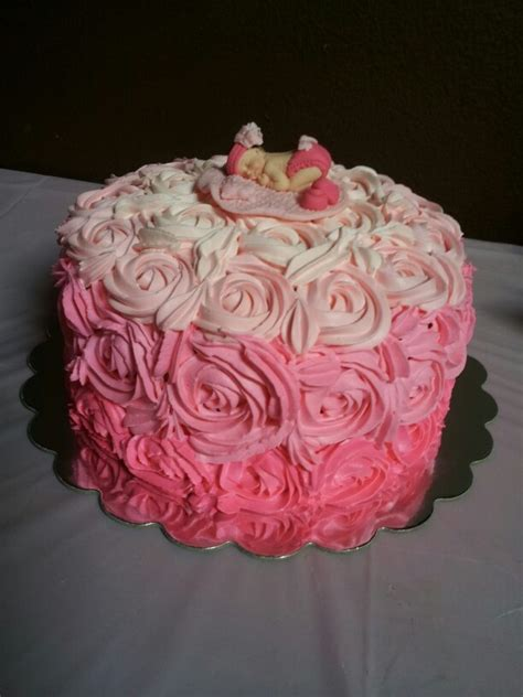 red roses pink ombre cake pink ombre rose cake cakes baking sweets pinterest