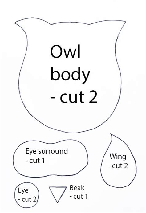 owl templates for sewing free knit pattern library