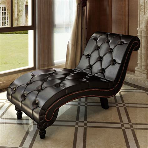 Brown Chaise Lounge Chesterfield Brown Chaise Lounge Button Tufted Vidaxl