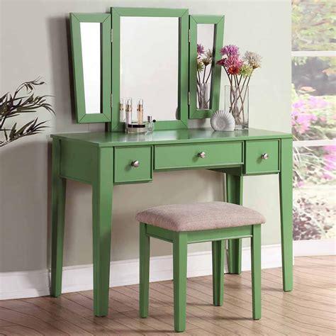 makeup vanity dresser tri folding mirror vanity makeup dresser table bench set 3