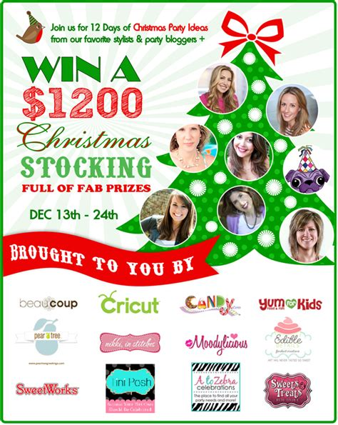 12 days of christmas party ideas a 1200 giveaway