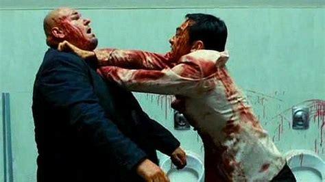 bathroom fight dude beats up three guys in an elevator