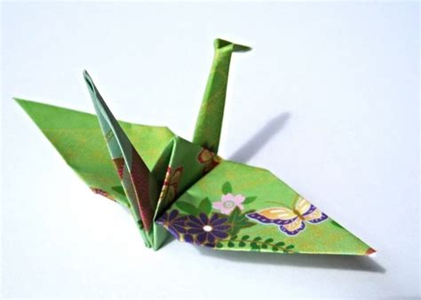 How To Make Japanese Paper Cranes - japanese paper cranes traditional kimono pattern