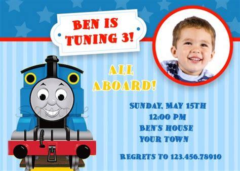 printable birthday invitations thomas the tank engine thomas the tank engine train custom photo birthday party