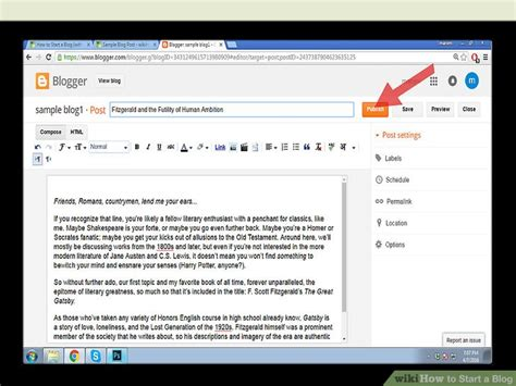 blogger exles how to start a blog with exle blog post wikihow