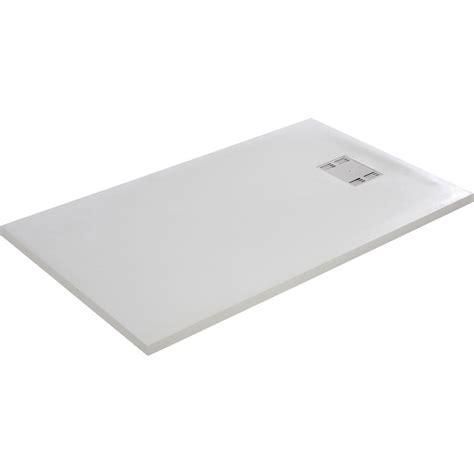 receveur de plat 140x90 receveur de slate blanc plat r 233 sine rectangulaire 140 x 90 cm leroy merlin