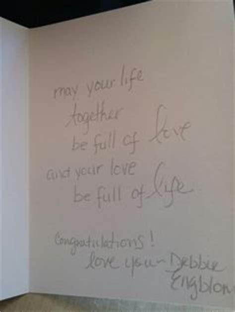 Wedding Shower Words For Cards