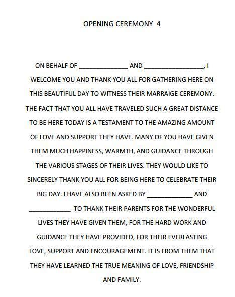Wedding Ceremony Script by Dreams Riveria Cancun Opening Ceremony Script Wedding