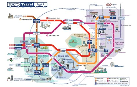 tokyo map tourist attractions tokyo tourist map new zone
