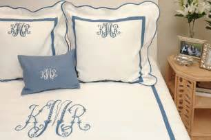 own monogrammed sheets go mighty