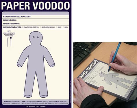 How To Make A Paper Voodoo Doll - paper voodoo