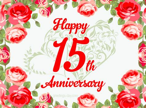 Wedding Anniversary Year by 15 Year Anniversary Free Ecards And Pics