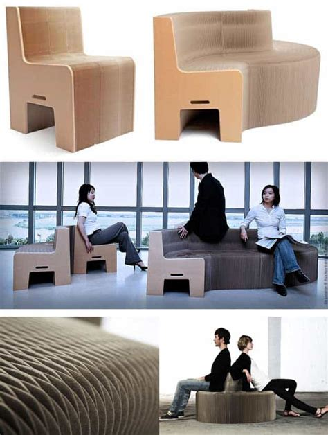 folding paper chair sofa expands    seats recycled
