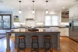 Houzz Kitchens With Islands Historic Foursquare Kitchen Rustic Kitchen